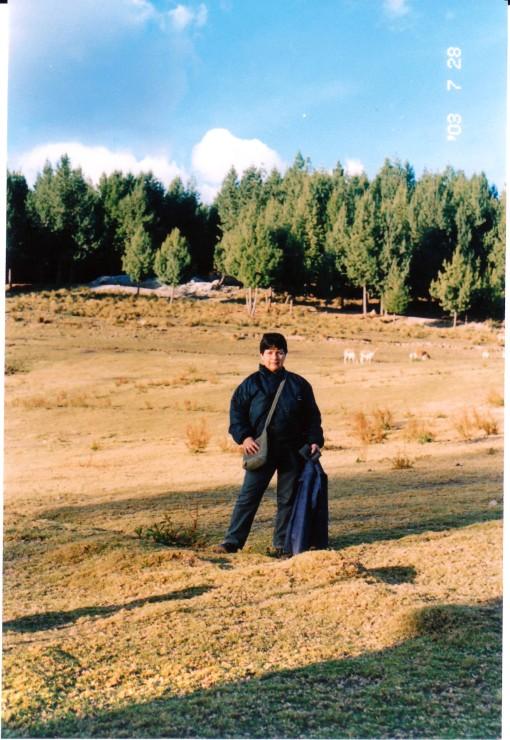 Mi madre en el campo