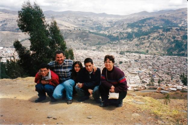 Mi familia y el pueblo de Huaraz