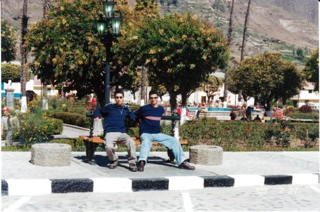 Renato y Koki en Huaraz