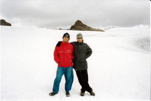 Renato y Koki en el Pastoruri