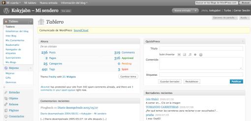Tablero WordPress