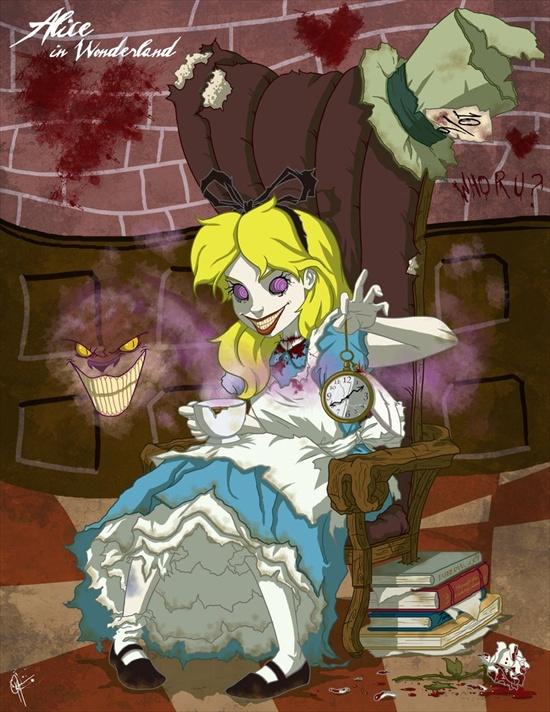las princesas retorcidas de disney XD Alicia