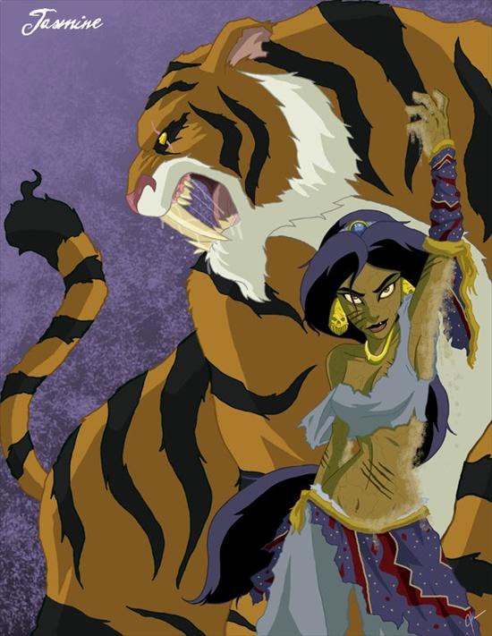 las princesas retorcidas de disney XD Jasmine-aladdin