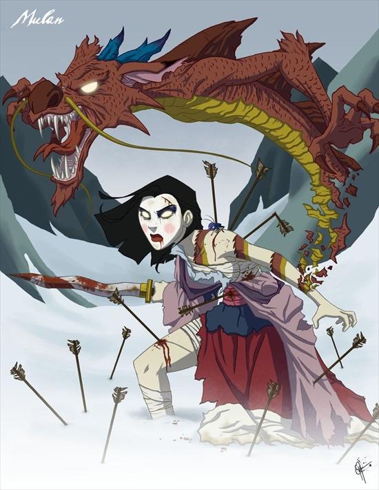 las princesas retorcidas de disney XD Mulan
