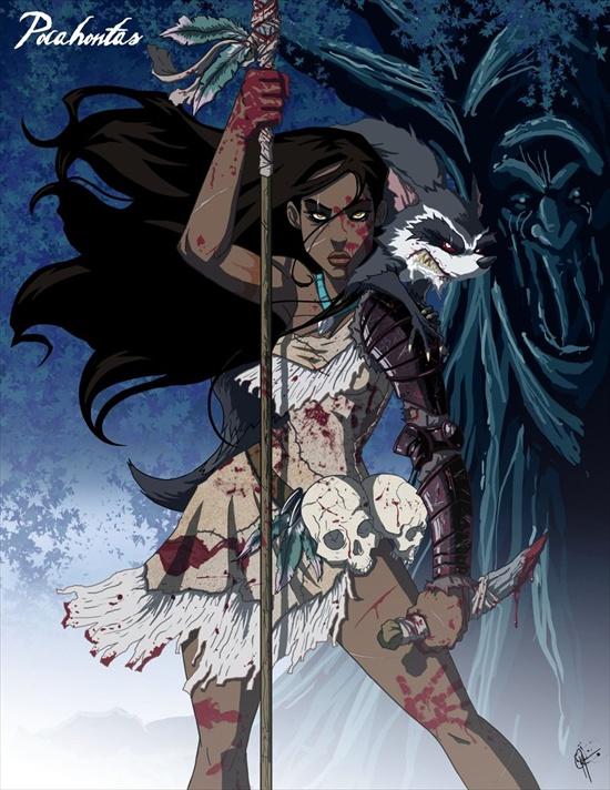 las princesas retorcidas de disney XD Pocahontas