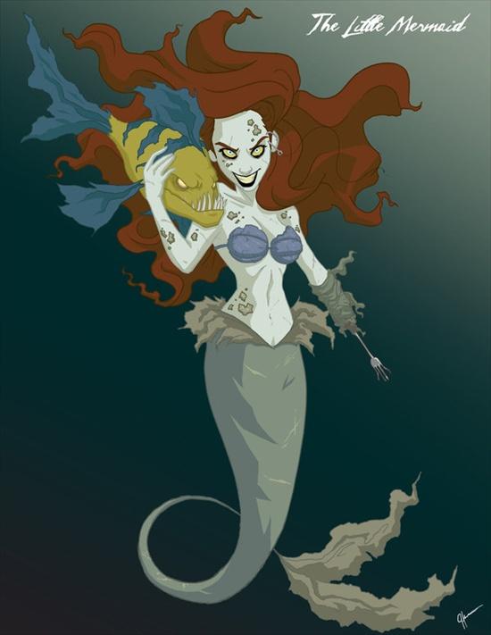 las princesas retorcidas de disney XD Sirena